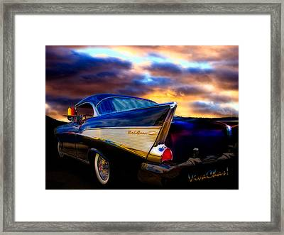 57 Belair Hardtop Cruise Is Done Framed Print by Chas Sinklier
