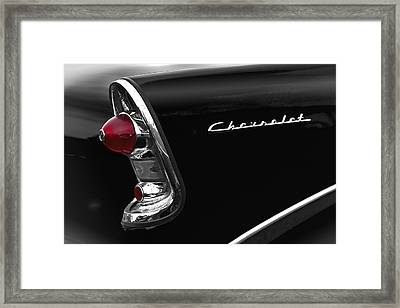 57 Black Chevrolet Framed Print by John  Bartosik