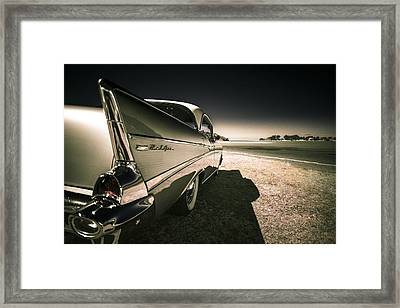 57 Chevrolet Bel Air Framed Print by motography aka Phil Clark