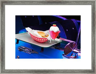 Framed Print featuring the photograph 57 Chevy At A Drive-in by Gunter Nezhoda