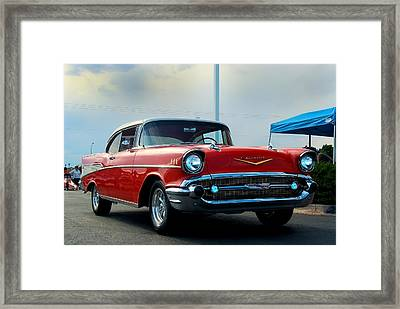 57 Chevy Bel-aire Framed Print by Don Durante Jr