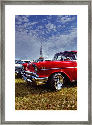 Framed Print featuring the photograph 57 Chevy Belair by Trey Foerster