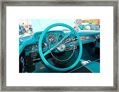 57 Chevy Belair Turquoise Framed Print