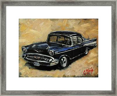 57 Chevy Framed Print by Carole Foret