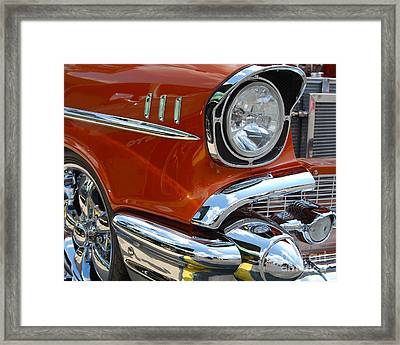 '57 Chevy Closeup Framed Print