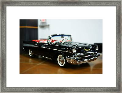 Framed Print featuring the photograph 57 Chevy Convertible  by B Wayne Mullins
