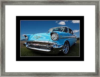 57 Chevy Sedan Framed Print by Keith Hawley