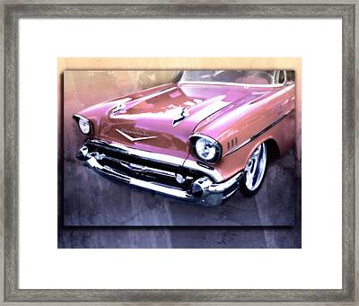 57 Chevy Shine Framed Print by Jacque The Muse Photography