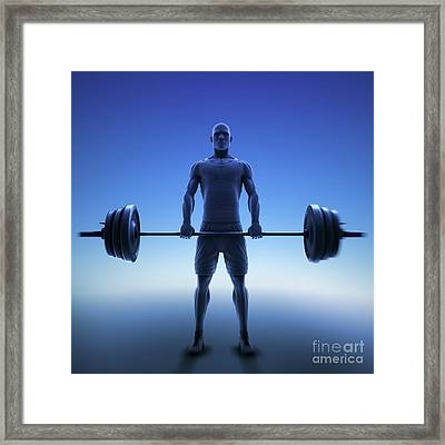 Exercise Workout Framed Print by Science Picture Co