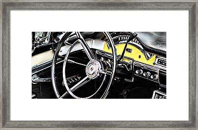 Old Car Framed Print featuring the photograph '57 Ford Fairlane 500 by Aaron Berg