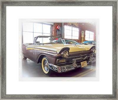 Framed Print featuring the photograph 57 Ford Fairlane by Steve Benefiel