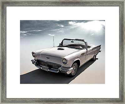 57 T-bird Framed Print