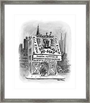 New Yorker November 21st, 2005 Framed Print by Lee Lorenz