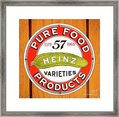 57 Varieties Framed Print