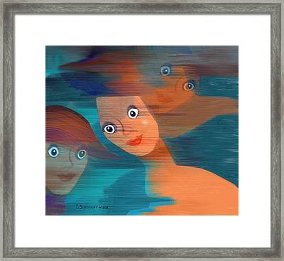 579 - Les Filles Du Vent Framed Print by Irmgard Schoendorf Welch
