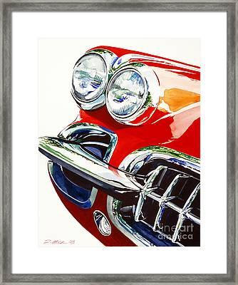 58 Corvette Framed Print by Rick Mock