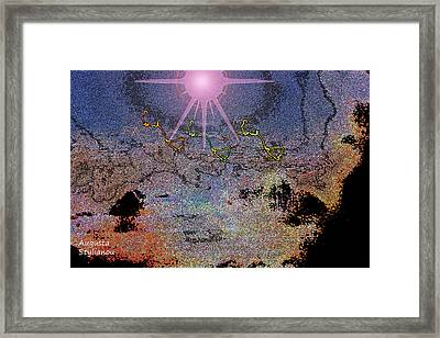 Space Landscape Framed Print by Augusta Stylianou