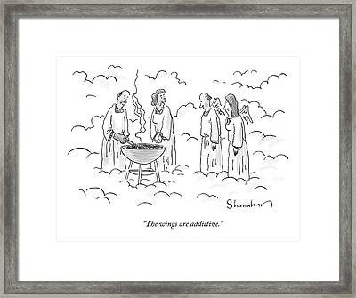 The Wings Are Addictive Framed Print