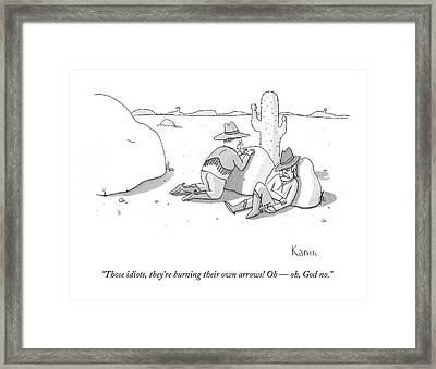 Those Idiots Framed Print by Zachary Kanin