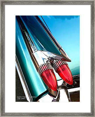 '59  Caddy Tail Fins Framed Print