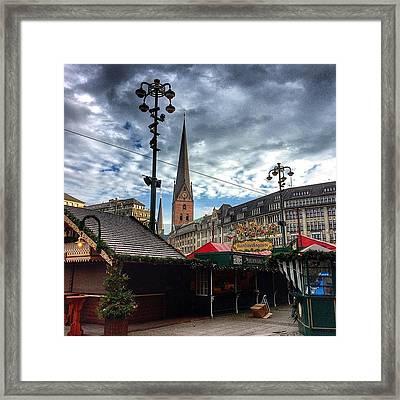 Christmas Market Hamburg Framed Print