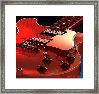 '59 Dot Neck Gibson Es-335 Framed Print by Dan Terry