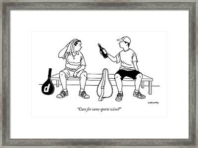 Care For Some Sports Wine? Framed Print