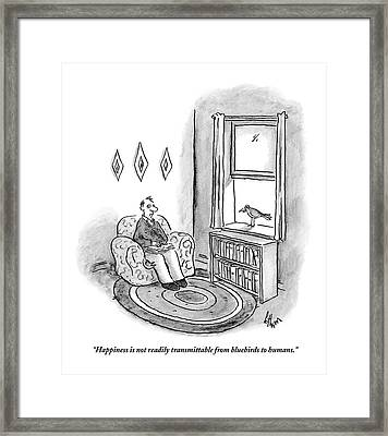 Happiness Is Not Readily Transmittable Framed Print by Frank Cotham
