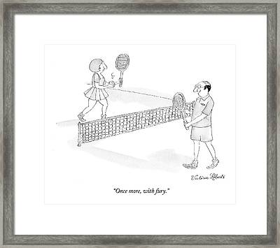 Once More, With Fury Framed Print
