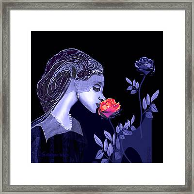 590 - Flavour Of The Rose Framed Print by Irmgard Schoendorf Welch