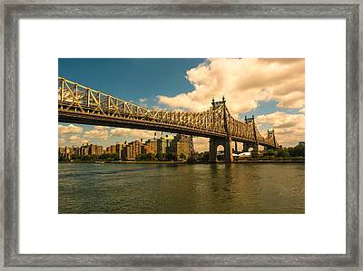 59th Street Bridge Ny Framed Print
