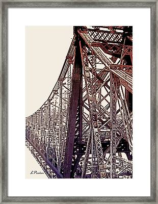 59th Street Bridge - Nyc Framed Print by Linda  Parker