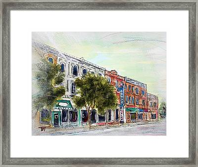 5am In Franklin Framed Print