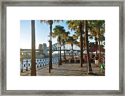 5pm At The Sydney Cove Oyster Bar Framed Print