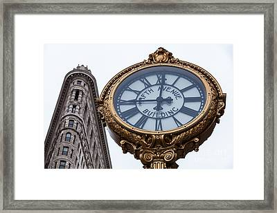 5th Avenue Clock Framed Print by John Farnan