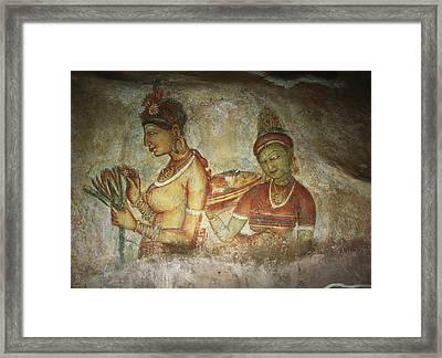 5th Century Cave Frescoes Framed Print by Chris Caldicott