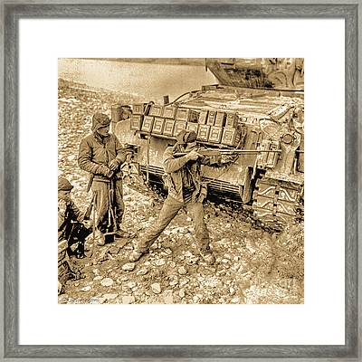 5th Regimental Combat Team 2nd Platoon E Company Framed Print by Bob and Nadine Johnston