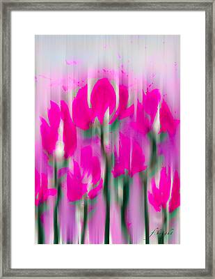 Framed Print featuring the digital art 6 1/2 Flowers by Frank Bright