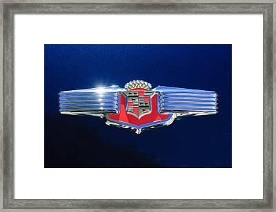 1941 Cadillac Emblem Framed Print by Jill Reger