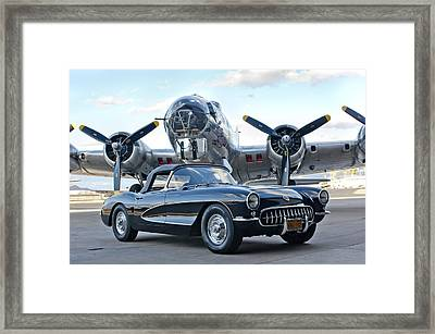 1957 Chevrolet Corvette Framed Print by Jill Reger