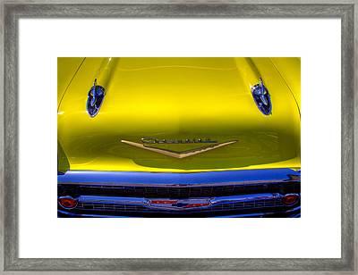 1957 Chevy Bel Air Custom Hot Rod Framed Print by David Patterson