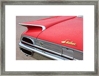 1960 Ford Galaxie Starliner Taillight Emblem Framed Print by Jill Reger