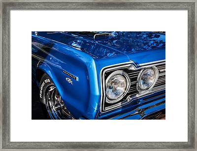 1967 Plymouth Belvedere Gtx 440 Painted  Framed Print by Rich Franco