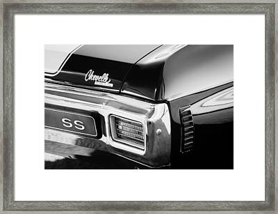 1970 Chevrolet Chevelle Ss Taillight Emblem Framed Print by Jill Reger