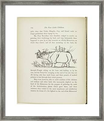 A Book Of Nonsense By Lear Framed Print by British Library