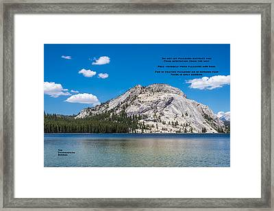 A Buddha Saying Framed Print