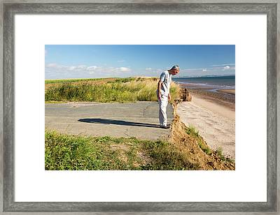 A Collapsed Coastal Road Near Aldbrough Framed Print