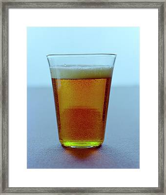 A Glass Of Beer Framed Print by Romulo Yanes