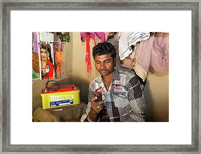 A Wwf Project To Supply Electricity Framed Print