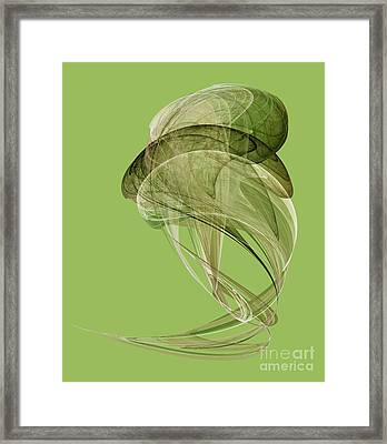 Abstract Futuristic Shape Framed Print by Odon Czintos